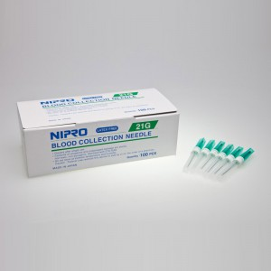 Nipro Blood Collection Needle, 21gx1 - Nipro Medical Corp. - NM+21G38